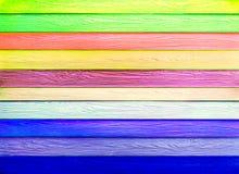 五颜六色的水平的木纹理 免版税库存照片