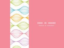 五颜六色的水平的ogee无缝的样式 免版税图库摄影