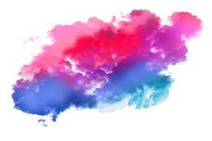 五颜六色的水彩斑点  免版税图库摄影