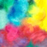 五颜六色的水彩污点以水彩画油漆污点 免版税图库摄影