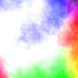 五颜六色的水彩-抽象背景 免版税库存图片
