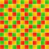 五颜六色的任意正方形简单的几何无缝的样式,传染媒介 皇族释放例证