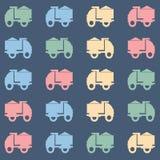 五颜六色的翻斗卡车传染媒介样式 免版税图库摄影