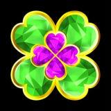 五颜六色的水晶三叶草 皇族释放例证