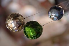 五颜六色的水晶 库存照片