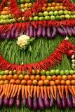 五颜六色的水果和蔬菜 免版税图库摄影