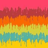 五颜六色的水滴油漆 库存图片
