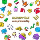 五颜六色的经济Infographic概念 皇族释放例证