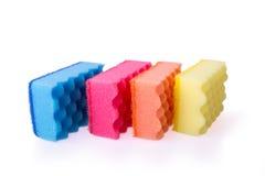 五颜六色的浴海绵 库存照片