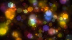 五颜六色的黄灯背景 库存图片