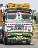 五颜六色的货物卡车在印度,旅行向亚洲 图库摄影