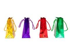 五颜六色的购物袋 库存图片