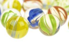 五颜六色的玻璃大理石,关闭 免版税图库摄影