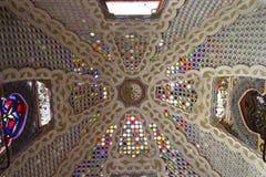 五颜六色的玻璃天花板 库存图片