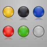 五颜六色的玻璃按钮 皇族释放例证