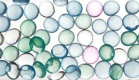 五颜六色的玻璃珍珠 免版税库存照片