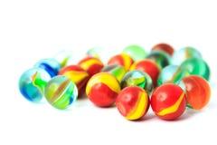 五颜六色的玻璃珠 免版税库存照片