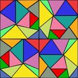 五颜六色的玻璃窗无缝的样式 库存例证