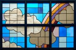 五颜六色的玻璃被弄脏的视窗 免版税库存图片