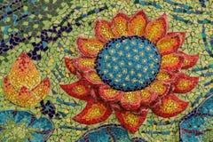 五颜六色的玻璃马赛克艺术形状莲花 库存图片