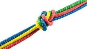 从五颜六色的绳索的领带 免版税库存照片