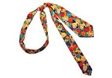 五颜六色的滑稽的领带 库存图片