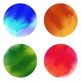 五颜六色的画笔污点污迹 向量 库存例证