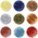 五颜六色的画笔污点 向量例证