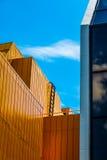 五颜六色的建筑学 库存照片
