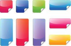 五颜六色的贴纸传染媒介 免版税库存照片