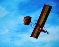 五颜六色的滑翔伞 图库摄影