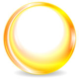 五颜六色的黄色圆的圈子商标设计 向量例证