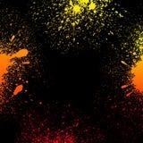 五颜六色的黄色,橙色和红色脏的梯度 库存照片