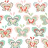 五颜六色的蝴蝶传染媒介样式背景 库存图片