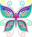 五颜六色的蝴蝶传染媒介 库存照片