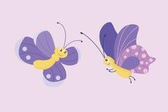 五颜六色的蝴蝶传染媒介 库存图片