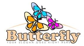 五颜六色的蝴蝶标志 免版税库存图片