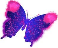五颜六色的绘画蝴蝶的例证 免版税库存照片