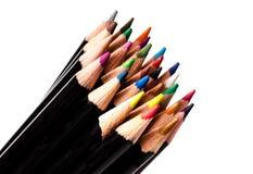 五颜六色的组铅笔 库存照片
