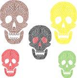 五颜六色的头骨 免版税库存照片