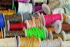 五颜六色的绳索 库存图片