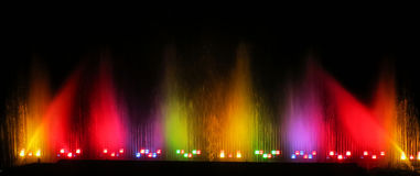 五颜六色的水 库存图片