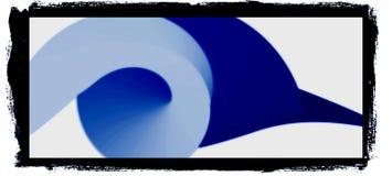 五颜六色的3d和波浪设计计算机生成的例证图象 向量例证