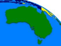 五颜六色的3D地球的澳大利亚 库存图片
