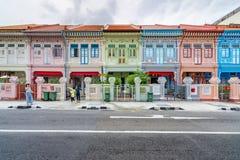 五颜六色的` Peranakan `议院在新加坡 免版税库存照片