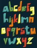 五颜六色的3d小写字母表 免版税库存图片