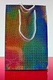 五颜六色的3D纸礼品袋子 免版税库存照片