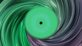 五颜六色的abctract隧道的动画 在一支色的管里面的行动动画 皇族释放例证