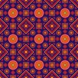 五颜六色的Ajrak样式 库存图片
