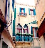 五颜六色的balconys 免版税库存图片